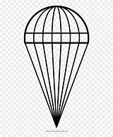 Parachute Coloring Pngfind sketch template