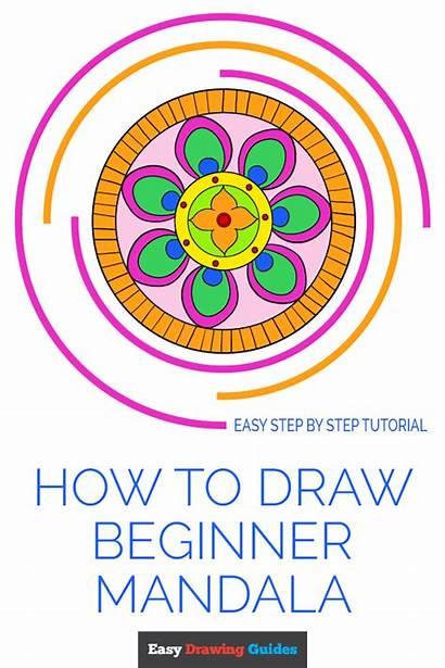 Mandala Beginner Draw Easy Drawing Beginners Tutorial