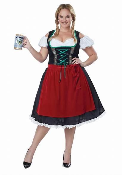 Plus Oktoberfest Costume Fraulein Womens 3x 2x