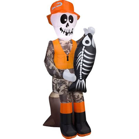 bzb goods halloween inflatable skeleton ghost driving