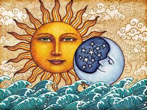 Sun Moon Celestial Art Print Signed By Artist Dan Morris