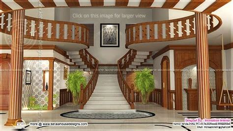 Renderings of Interior ideas of home - Kerala home design