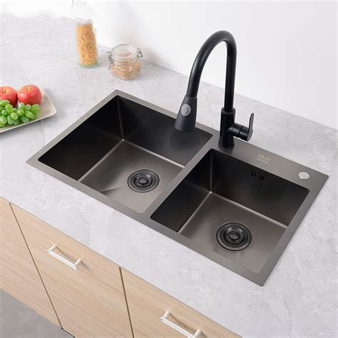 stainless steel kitchen sink basins  thick double