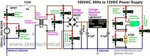 Regulated 120vac To 12vdc Power Supply Using Voltage