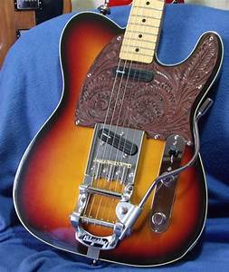 Jerry Donahue Telecaster W   Bigsby Tremolo  Note The Cool Leather Pickguard     Awesome