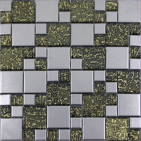 silver porcelain square mosaic tile designs crystal glass tiles wall bathroom plated ceramic