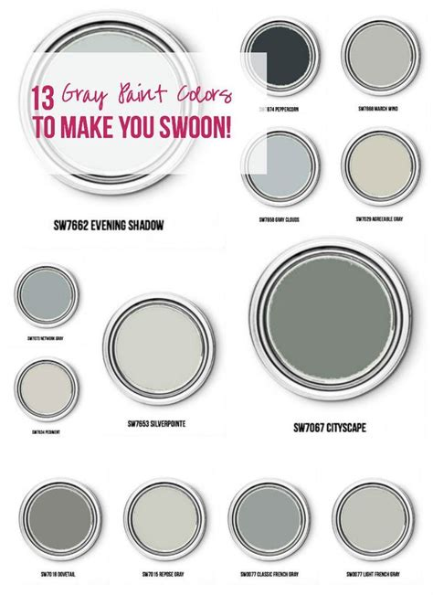 13 gray paint colors to make you swoon gray paint colors