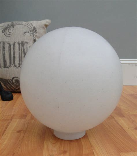 Big White Plastic Ball Outdoor Shade Light Fixture Round