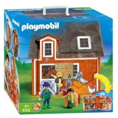 ferme transportable playmobil playmobil 4142 ferme transportable comparer avec touslesprix