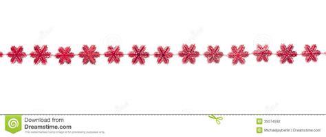 red snow flake decoration garland stock photo image