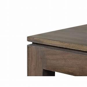 Grande Table Basse Carrée : table basse carr e tara gris e acacia meuble style design ~ Teatrodelosmanantiales.com Idées de Décoration