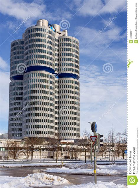 bmw headquarters munich germany editorial photo