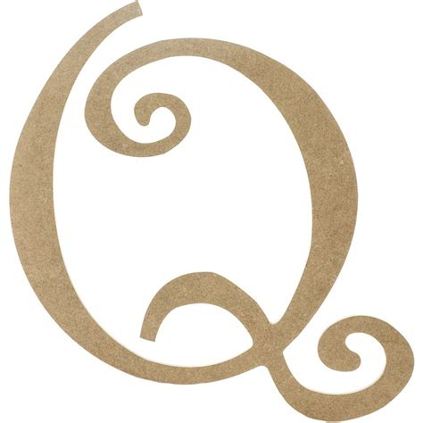 with letter q 14 quot decorative wooden curly letter q ab2161 Words