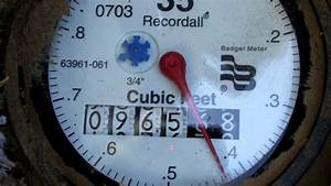 Reading Your Water Meter To Check For Water Leaks Mov