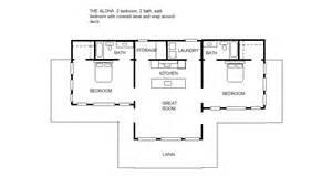 Surprisingly Bedroom Split Level House Plans by The Aloha 2 2 Split Bedroom Floor Plan