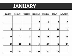 8 5 X 11 Calendar Template