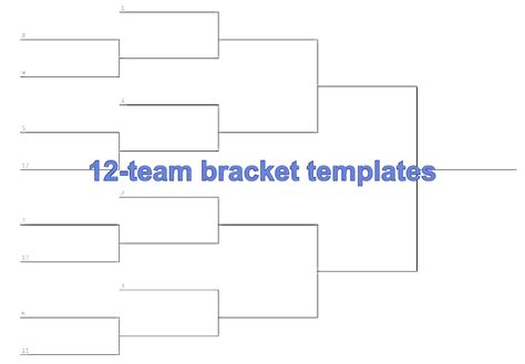 team bracket single elimination printable tournament