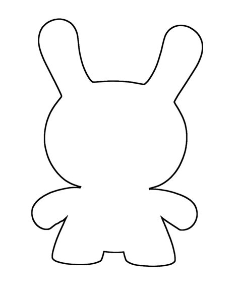 ugly doll template sketch coloring page
