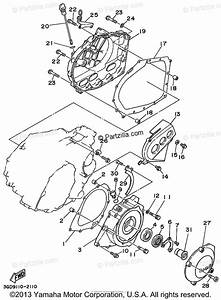 Yamaha Atv 2003 Oem Parts Diagram For Crankcase Cover  1