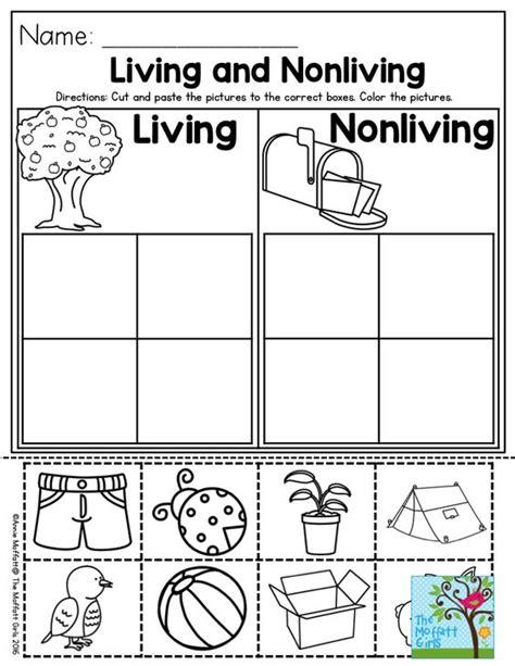 preschool activities living and nonliving and preschool