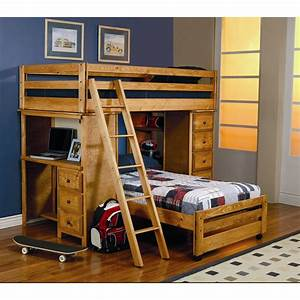 Twin, Over, Full, Bunk, Bed, With, Desk, Best, Alternative, For, Kids, Room, U2013, Homesfeed