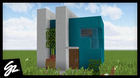 modern starter house tutorial   build  house  minecraft youtube