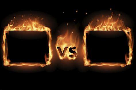 vs fire flame versus battle screen border vector frames epic psychic 4vs4 js source clip keen illustrations letters mindshare java