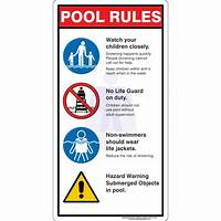 pool rules sign Water Safety Signs – Australian Safety Signs