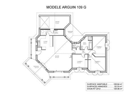 plan maison plain pied 4 chambres garage plan de maison plain pied avec garage maison moderne