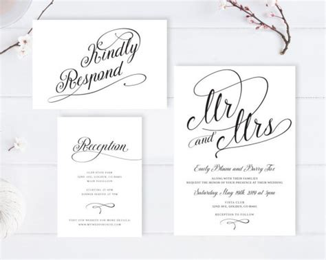 Cheap Wedding Invitations With Rsvp