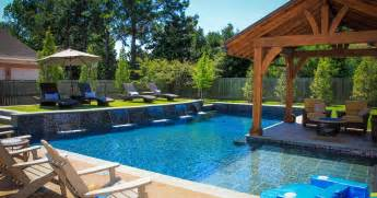 Beautiful Home Pictures Interior Beautiful Backyard Pool Design Ideas Along With Maple Wood Adirondack Chair And River