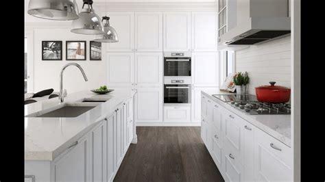 white kitchen cabinets  countertops youtube