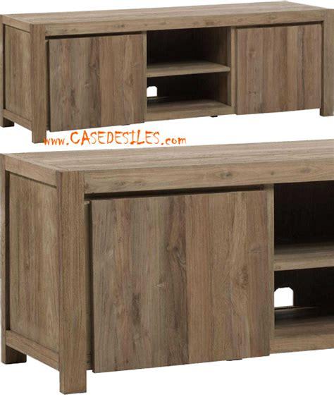 meuble tv hifi teck recycl 233 naturel bross 233 m111n pas cher