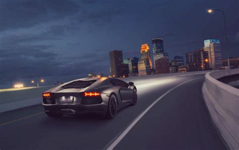 Lamborghini Aventador Lp 700-4 Supercar Night City Wallpapers