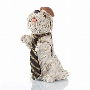 Statue Chien Design : statue d co chien british blanc 15 5cm ~ Teatrodelosmanantiales.com Idées de Décoration