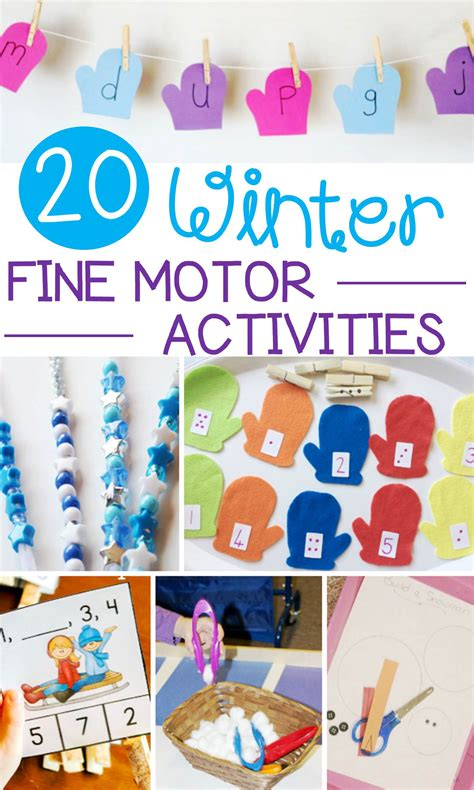 20 wonderful winter motor activities for early learning 538 | winter fine motor activities pin