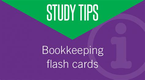 Bookkeeping Flash Cards To Help You Study