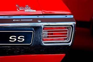 1970 Chevrolet Chevelle Ss Convertible Taillight Emblem Photograph By Jill Reger