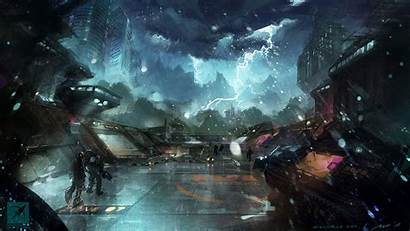 Sci Fi Landscape Fiction Science Wallpapers Cool