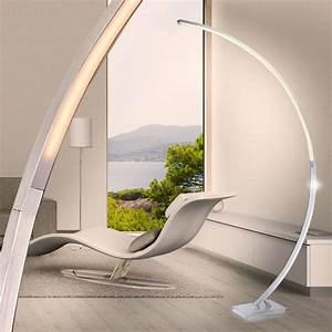 Led Bogenleuchte Dimmbar : elegante led stehleuchte mit touchdimmer lampen m bel innenleuchten stehleuchten ~ Markanthonyermac.com Haus und Dekorationen