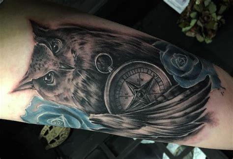 foto de Kompass Tattoos: Ideen und Bedeutungen