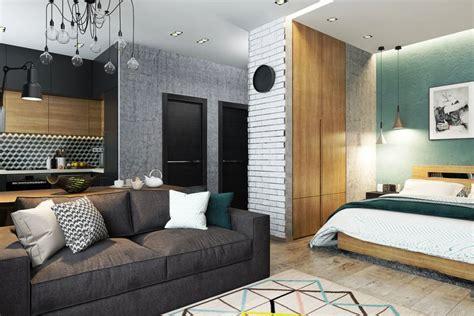 studio type kitchen design интерьер квартиры студии со спальней в нише фото дизайн 5914