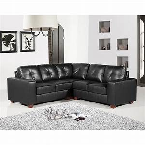 Richmond 5 seater black leather corner sofa group for Black leather sectional sofa uk