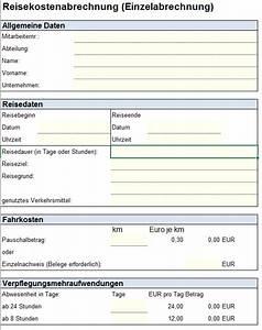 Abrechnung Dienstreise : reisekostenabrechnung einzelabrechnung excel vorlagen shop ~ Themetempest.com Abrechnung