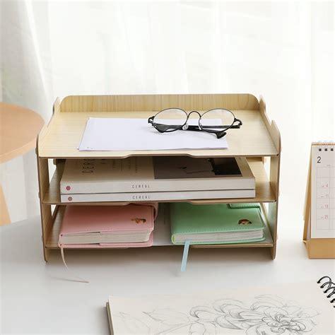 letter tray organizer kusn supply 3 tier wood desktop letter tray organizer best