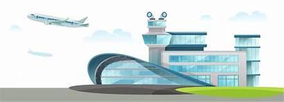 Cartoon Airport Shuttle Januari Published Parking Visie