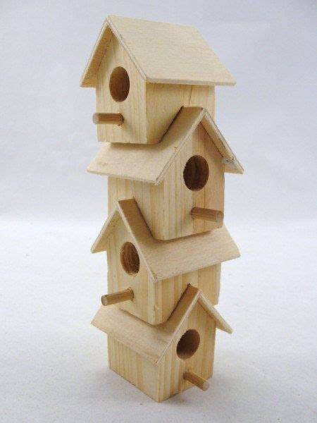 Reserved Wooden Stacking Birdhouse Diy Paint Your Own Ser