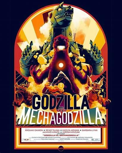Mondo Godzilla Posters Poster Mechagodzilla Revealed Wave