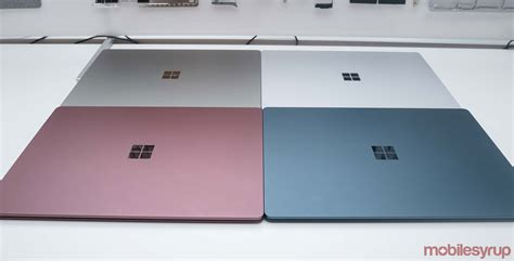 color laptop canadians can now get microsoft s surface laptop in three