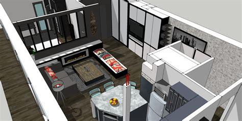 plan cuisine cuisine ouverte sur salon 30m2 9 plan salon cuisine
